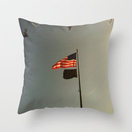 Freedom Flag Throw Pillow