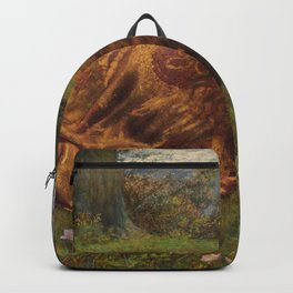 Princess out of school by Edward Robert Hughes Backpack