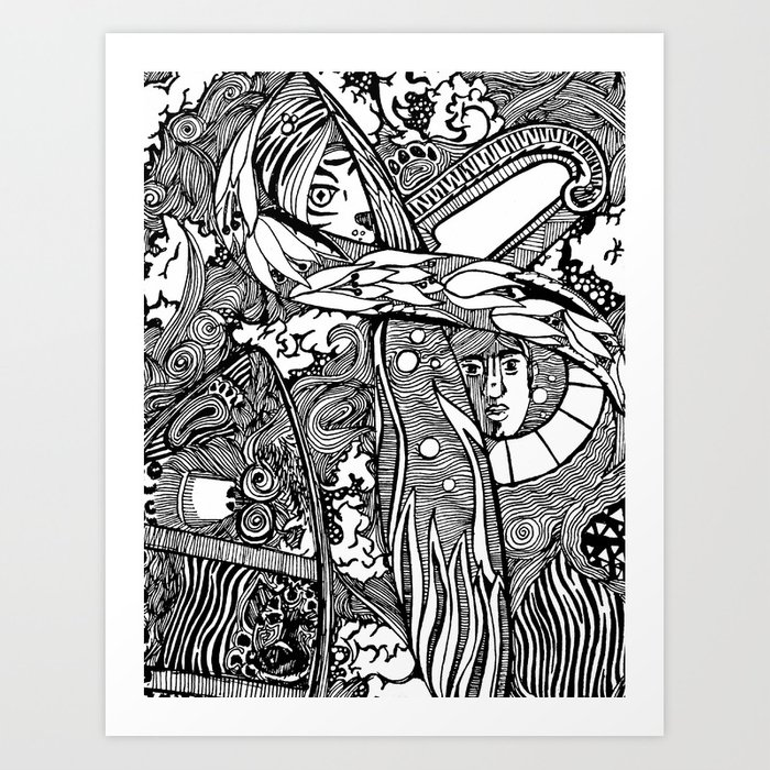 Marooned   Limited Edition of 50 Prints Art Print