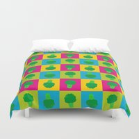 popart Duvet Covers featuring Popart Broccoli by XOOXOO