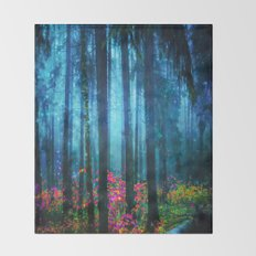 Magicwood #Night Throw Blanket
