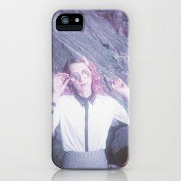 Violet Daydreams - Portrait on the Oregon Coast - Purple Film Photograph iPhone Case