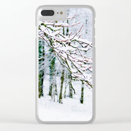 Snowy Branch In The French Alps Clear iPhone Case