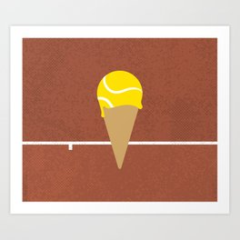 Tennis Ice Cream Art Print