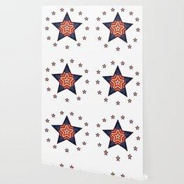 Vintage US Flag Star Wallpaper
