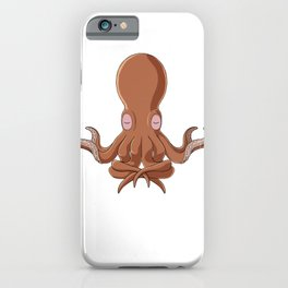 Meditation Octopus Kraken Cthulhu Diver Gift iPhone Case