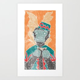 The Flying Chango Art Print