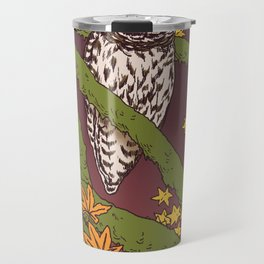 Barred Owl & Maple Travel Mug