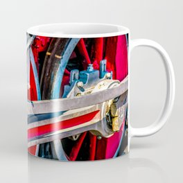 Wheels, Rods, Gear Of A Vintage Steam Locomotive Engine Coffee Mug