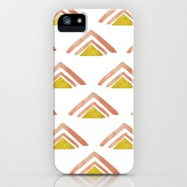 Pink and Yellow Boho Triangles iPhone Case