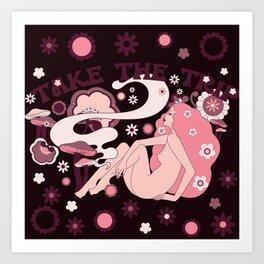 Take The Trip Pink Art Print