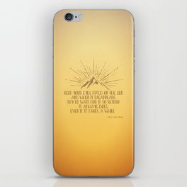 Keep Your Eyes Fixed on the Sun iPhone Skin