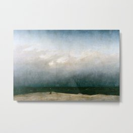 Caspar David Friedrich - The Monk by the Sea Metal Print