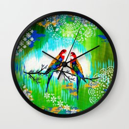 Green and Fresh Wall Clock
