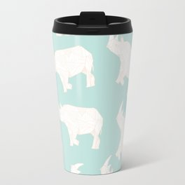 African Animals - Rhino Green Travel Mug