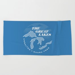 The Great Lakes - Unsalted & Shark Free (Inverse) Beach Towel