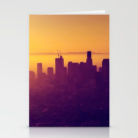 Los Angeles at Sunset Stationery Cards