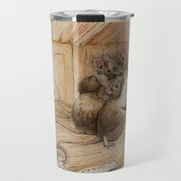 Cute little mice gather around Travel Mug