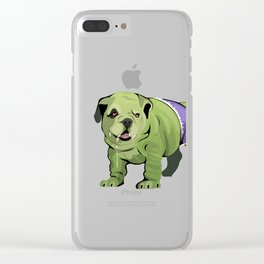 The Incredible Bulldog Clear iPhone Case