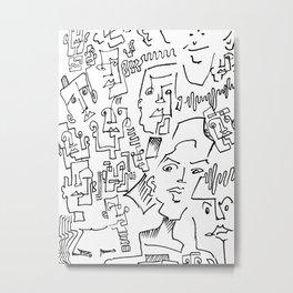 ten faced Metal Print