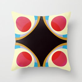 Colorful Retro Shapes Throw Pillow