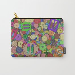 Noisy Buttons Carry-All Pouch