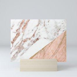 Marble rose gold blended Mini Art Print