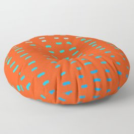 Fiesta at Festival - Orange Floor Pillow