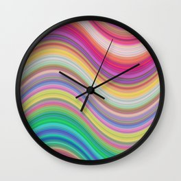 Rainbow pattern expression Wall Clock