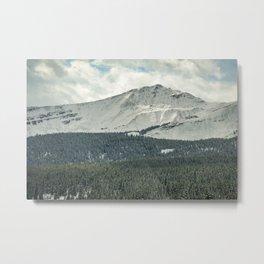 Rocky Mountain Snow Dusting Metal Print