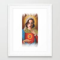 dana scully Framed Art Prints featuring Dana Scully by Michelle Wenz
