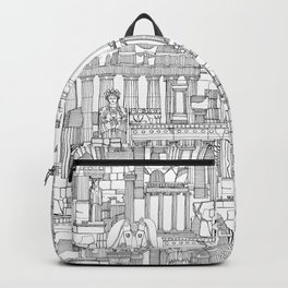 Ancient Greece black white Backpack