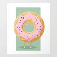 donut Art Prints featuring Donut by Maria Jose Da Luz