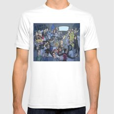 TV MEDIUM Mens Fitted Tee White