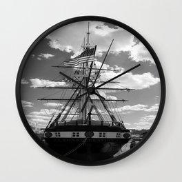 Baltimore Harbor - USS Constellation Wall Clock