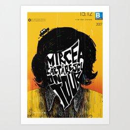 Mircea Cartarescu on tour Art Print