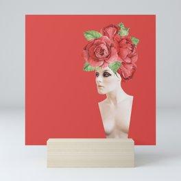 Rose head / Mannequin collage  Mini Art Print