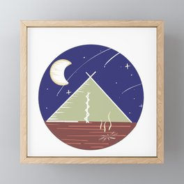 Camping Under the Stars / Nature Camping Trip Framed Mini Art Print