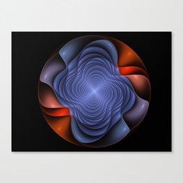 Colorful fractal flower. Canvas Print