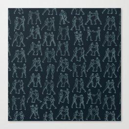 Round One STEEL BLUE / Vintage boxers Canvas Print