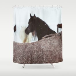 Winter Horse #2 Shower Curtain