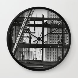 Steel workers New York City Wall Clock