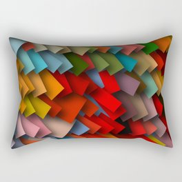 colorful rectangles with shadows Rectangular Pillow