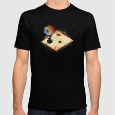 In the Rays of a Cloudless Sun MEDIUM Mens Fitted Tee Black
