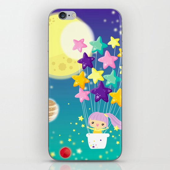 fly me to the moon iPhone & iPod Skin