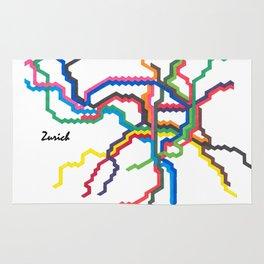 Zurich Metro Map Rug