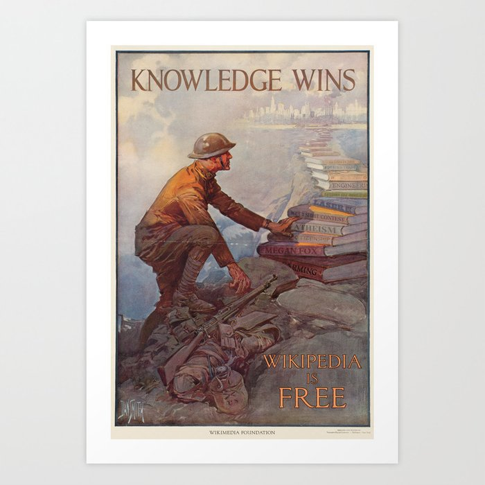 Wikipedia is Free Art Print