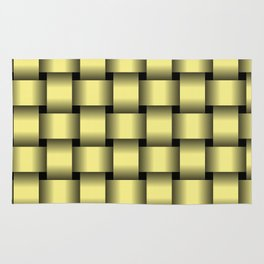 Large Khaki Yellow Weave Rug