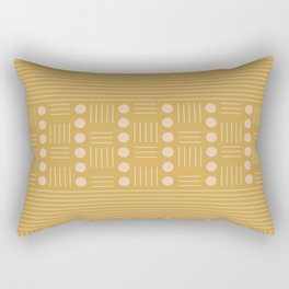 Lines and Circle in Mustard Rectangular Pillow