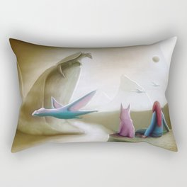 Watching Dragons Rectangular Pillow
